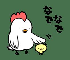 kawaii! Chicken and chick! sticker #3143146