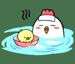 kawaii! Chicken and chick! sticker #3143148