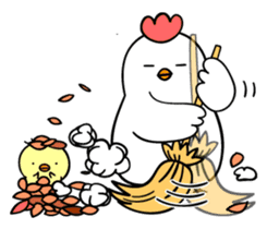 kawaii! Chicken and chick! sticker #3143154