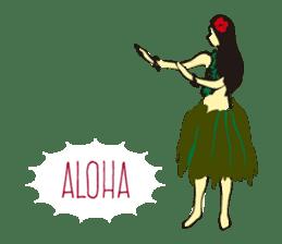 Hula  life sticker #3146899