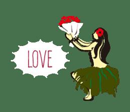 Hula  life sticker #3146925