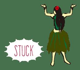 Hula  life sticker #3146927
