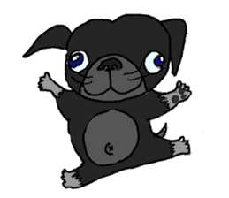 I am Pug sticker #3148917