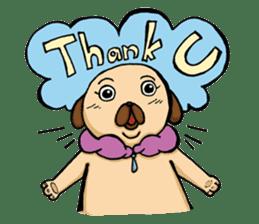 Lady Pug sticker #3168509