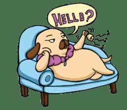 Lady Pug sticker #3168514