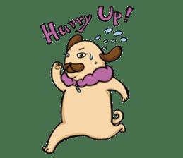 Lady Pug sticker #3168520