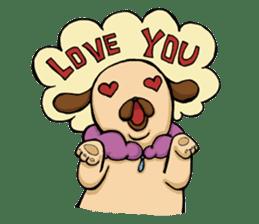 Lady Pug sticker #3168522