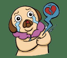 Lady Pug sticker #3168524