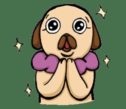 Lady Pug sticker #3168529