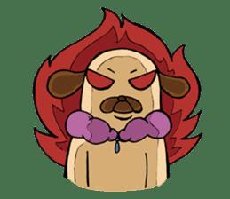 Lady Pug sticker #3168535