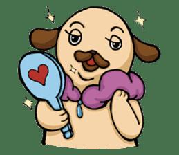 Lady Pug sticker #3168536