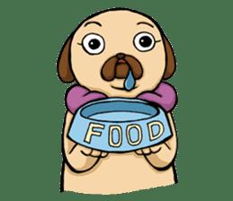 Lady Pug sticker #3168537
