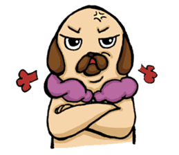 Lady Pug sticker #3168538