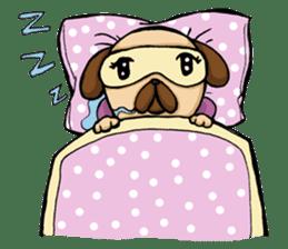 Lady Pug sticker #3168546