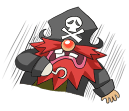Pirate - Red Beard part3 sticker #3170070