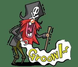 Pirate - Red Beard part3 sticker #3170085