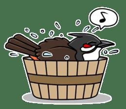 Red-whiskered bulbul bird sticker #3185962