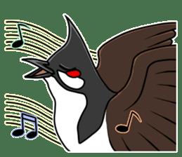 Red-whiskered bulbul bird sticker #3185968