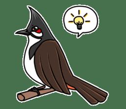 Red-whiskered bulbul bird sticker #3185986