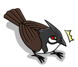Red-whiskered bulbul bird sticker #3185989