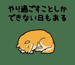 Anz the Japanese shiba dog sticker #3202199