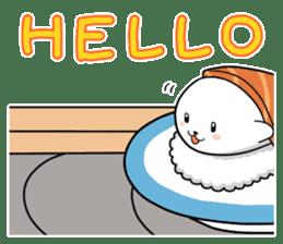 Sushi Animal English edition sticker #3205091