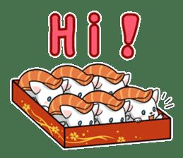 Sushi Animal English edition sticker #3205095
