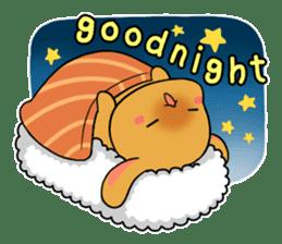 Sushi Animal English edition sticker #3205098