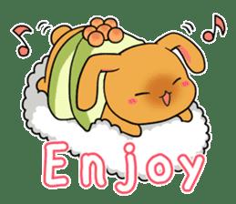 Sushi Animal English edition sticker #3205099