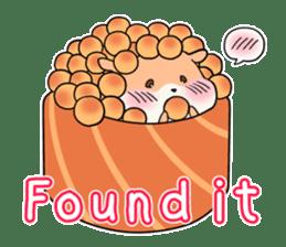 Sushi Animal English edition sticker #3205121