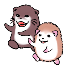 Otter & Hedgehog
