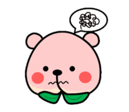 Sweet Peach Bear sticker #3207496
