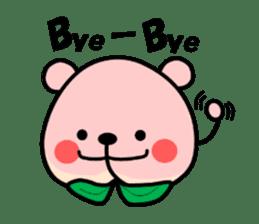 Sweet Peach Bear sticker #3207497