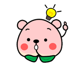 Sweet Peach Bear sticker #3207500