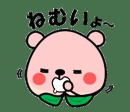 Sweet Peach Bear sticker #3207501