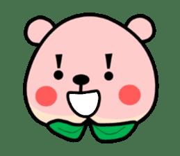 Sweet Peach Bear sticker #3207504
