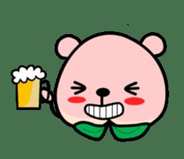 Sweet Peach Bear sticker #3207507