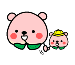 Sweet Peach Bear sticker #3207513