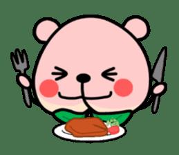 Sweet Peach Bear sticker #3207515