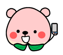Sweet Peach Bear sticker #3207522