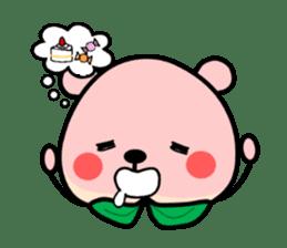 Sweet Peach Bear sticker #3207526