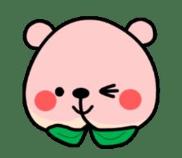 Sweet Peach Bear sticker #3207528