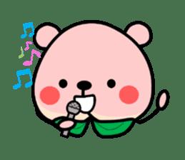 Sweet Peach Bear sticker #3207529