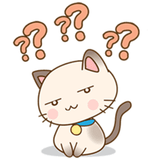 Funny Siamese kitten sticker #3221260