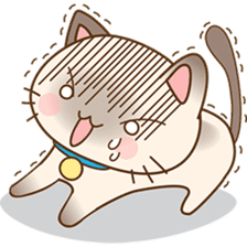 Funny Siamese kitten sticker #3221261
