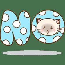 Funny Siamese kitten sticker #3221262