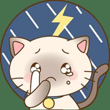 Funny Siamese kitten sticker #3221264