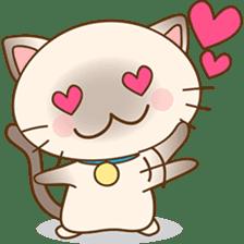 Funny Siamese kitten sticker #3221265