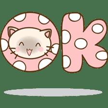 Funny Siamese kitten sticker #3221266