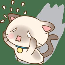 Funny Siamese kitten sticker #3221267
